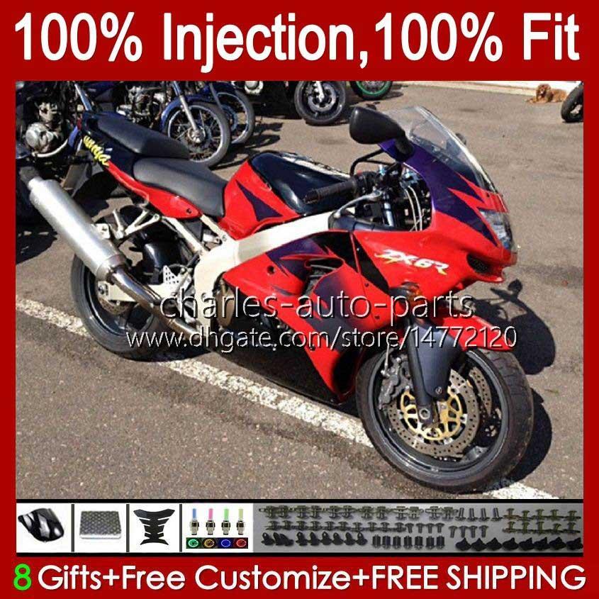 OEM Cuerpo para kawasaki ninja zx 636 600cc zx-600 zx-6r zx636 zx6r 00 01 02 37hc.33 rojo negro nuevo zx 600 cc 6 r zx 6r zx600 Cowling ZX-636 2000 2001 2002 Molde de inyección