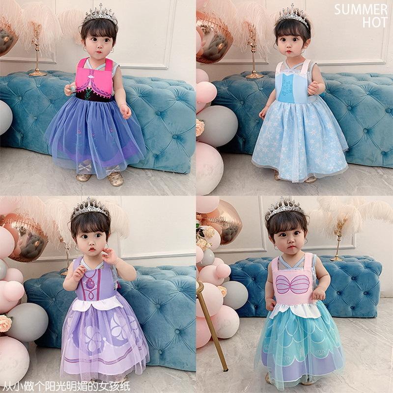 2020 New style Children apron Baby D Coverall Girls Waterproof Eating Bib Reverse Dressing Bib E20293 X0509