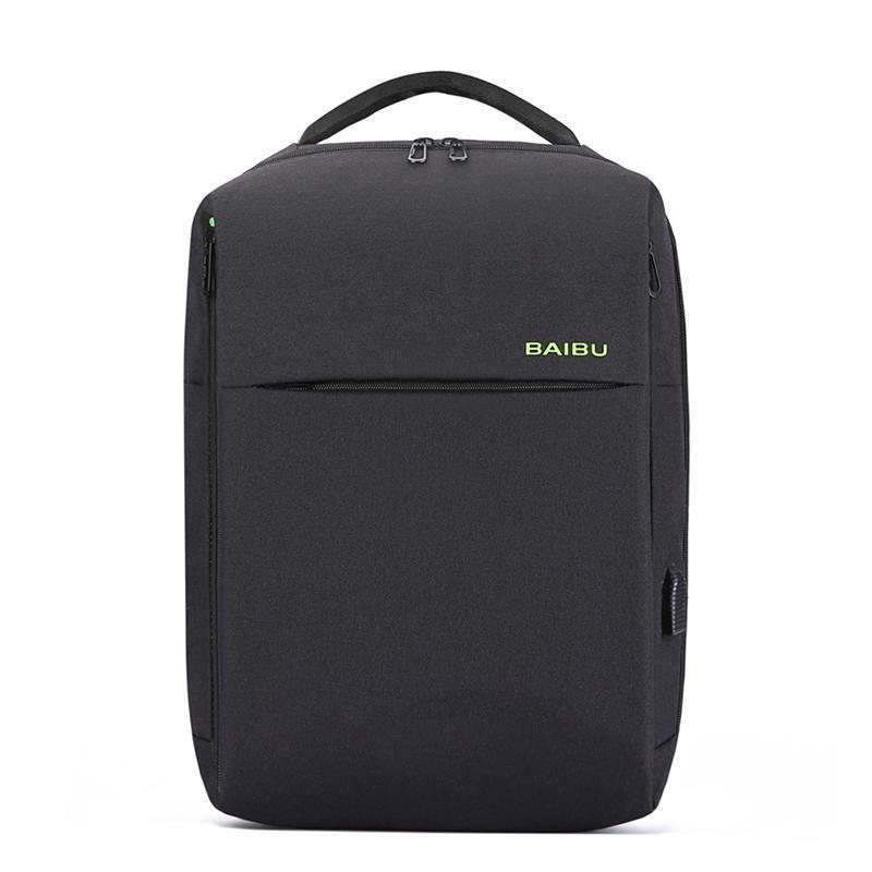 Backpack Business Travel 15.6inch External USB Charge Laptop Waterproof Bag Casual Male Men School Bags