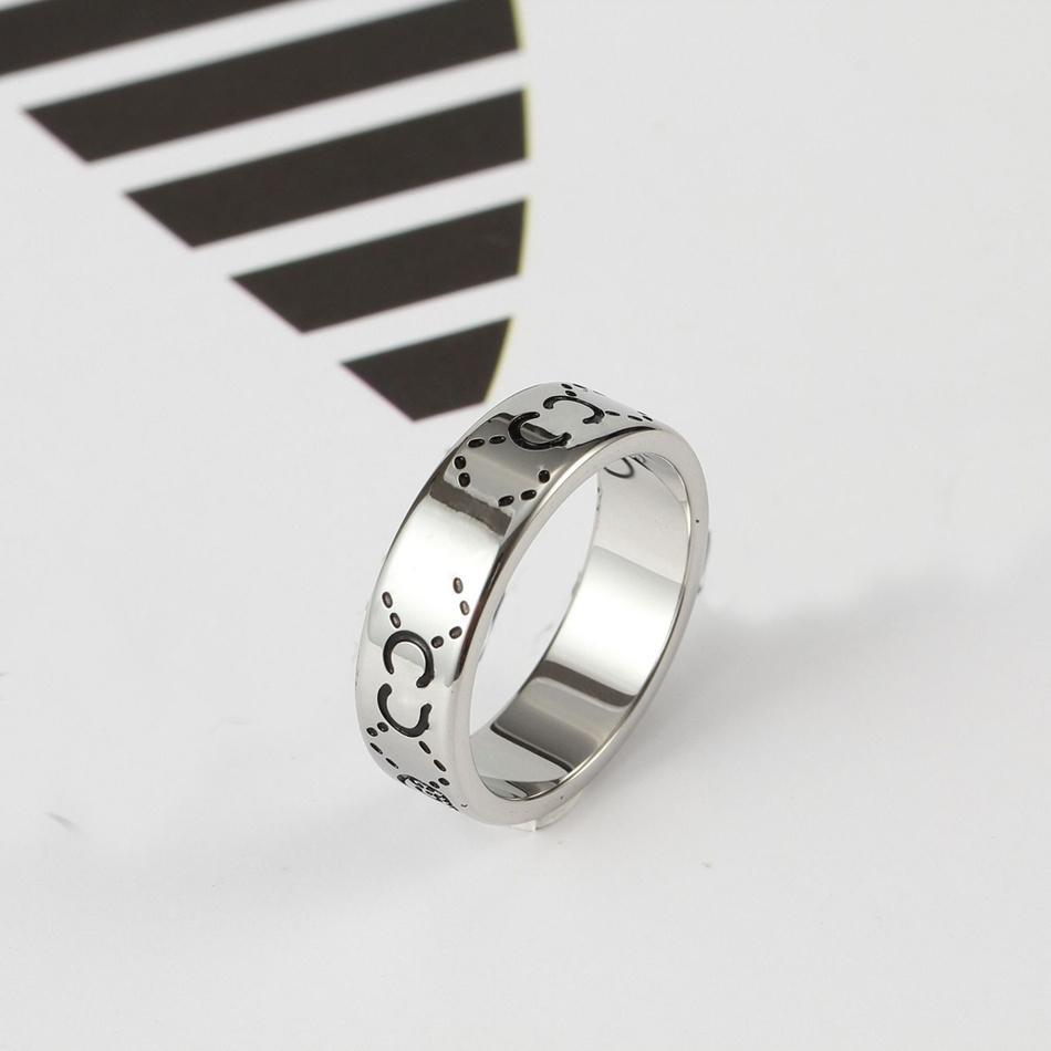 2021 Studentesse in acciaio senzavannazione Skull Anelli Moissanite Anelli Bague per uomo e donna Campionato Party Jewelry Lovers Regalo 6mm