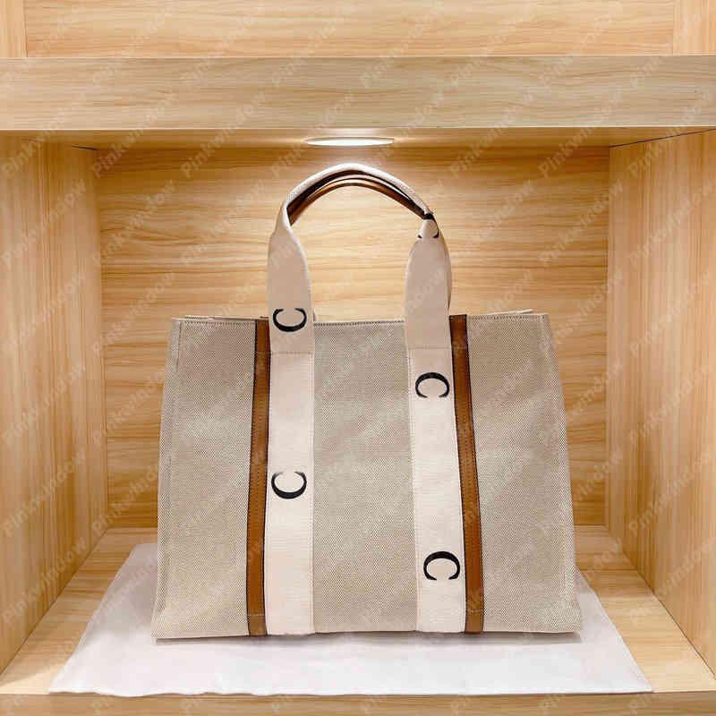 Diseño de bolso de lujo 2021 Totes para mujer Big Woody Tote Mujeres Diseñador Bolsos Lujos Diseñadores Bolsas de hombro Bolsos Crossbody Bols Bolsos 2104021L