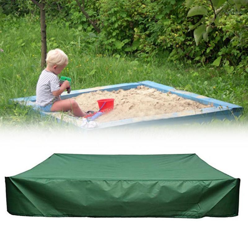 야외 태양 그늘에 대 한 녹색 방수 샌드 박스 커버 아이들 벙커 장난감 상자 먼지 모든 목적 완구 protector1