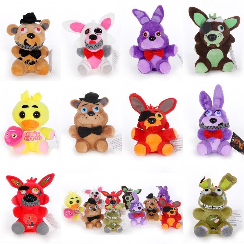 Плюшевые игрушки 15 см 18 см пять ночей в Freddy Fnaf Куклы Фаршированные игрушки Golden Freddy Fazbear Mangle Foxy Bonnie Plush Фурнишенные игрушки животных