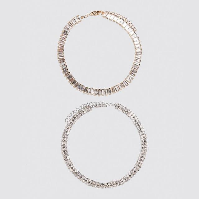 Trendy Women Statement Necklace Crystal Bohemian Chain Choker Lady Pendant Accessories Girls Gifts Chains