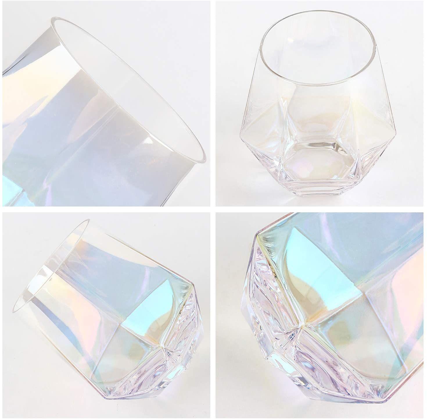 Diamond Stemless Wine Glass