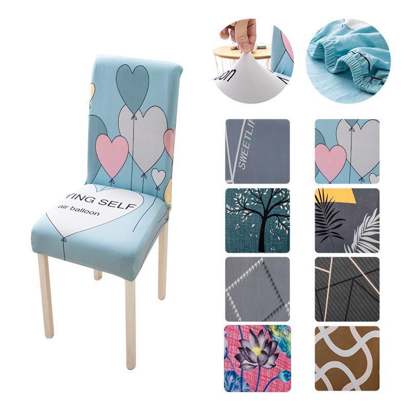 Spandax Stretch Dining Chair Covers für Stühle Küchenabdeckung Hochzeitsbüro High Back Fütterung