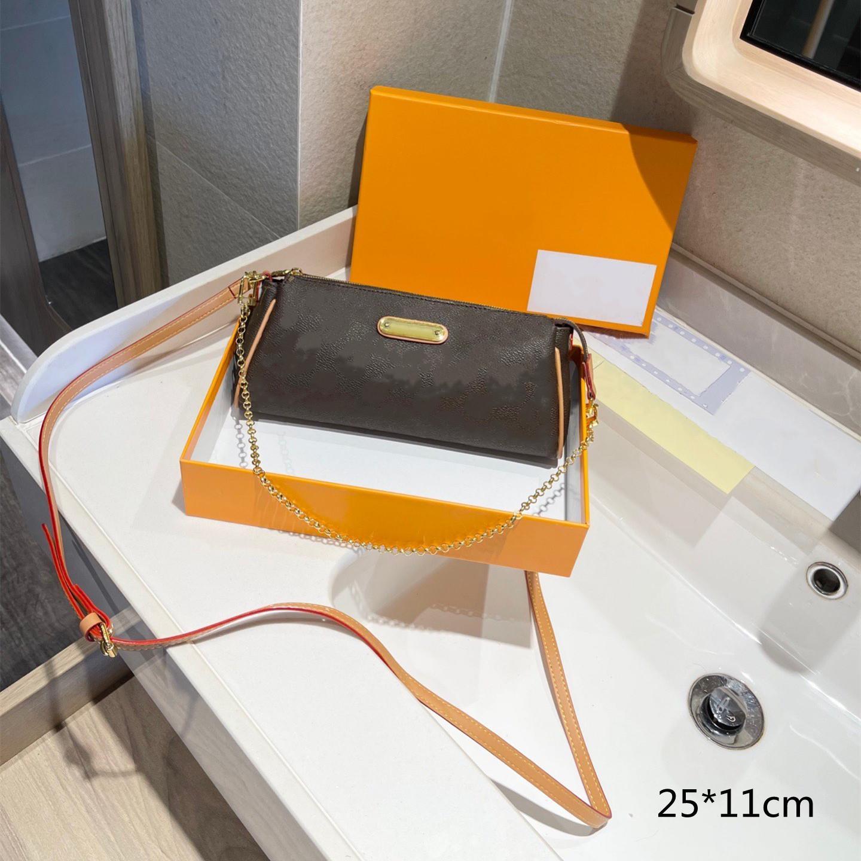 2021 سيدة فاخرة baguettes المحافظين المصممين حقائب سلسلة crossbody الأزياء حقيبة الإبط المرأة الصغيرة حقائب اليد مع الزهور المطبوعة L21071301