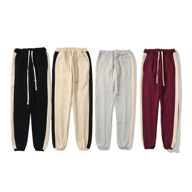 3M Светоотражающие старинные высококачественные ряд бега трусных брюк мужские и женские спортивные штаны модные тенденции дизайнерские брюки писем вышивка высокая улица спортивная спорт пригодность