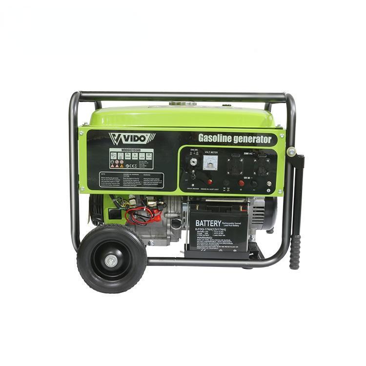 전문 핸드 도구 세트 Vido 저소음 4 스트로크 5KW OHV 시스템 직업 가솔린 발전기