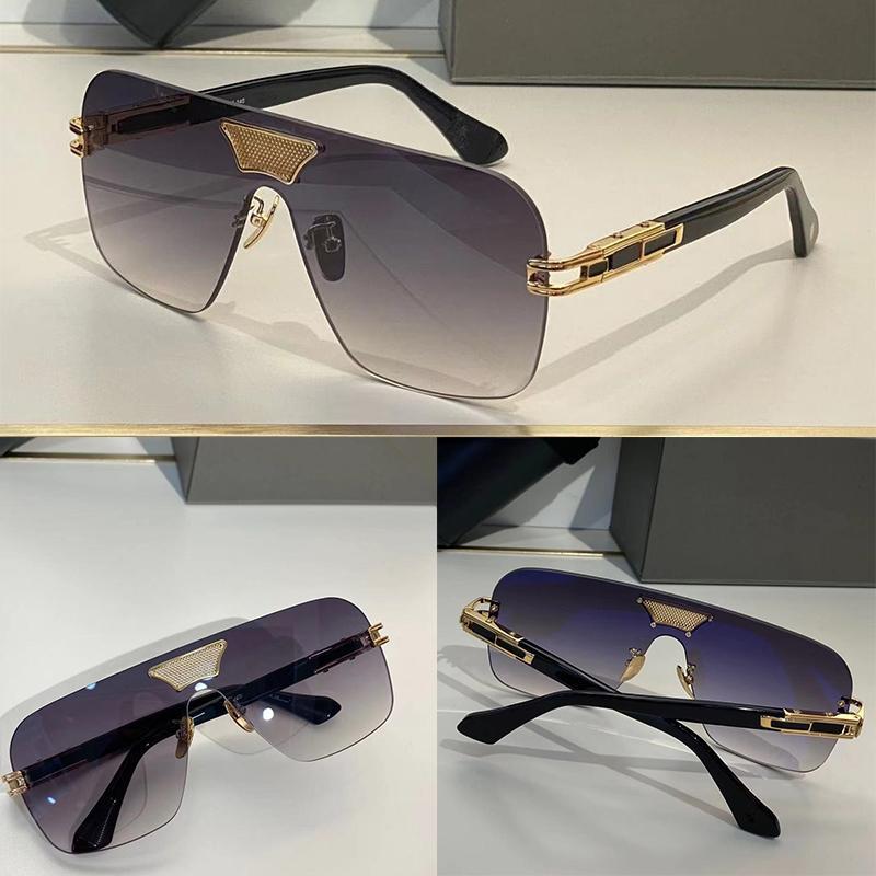 Summer Sunglasses For Men style Anti-Ultraviolet Retro Plate GRAND AMI Rectangle Frameless fashion Eyeglasses Random Box