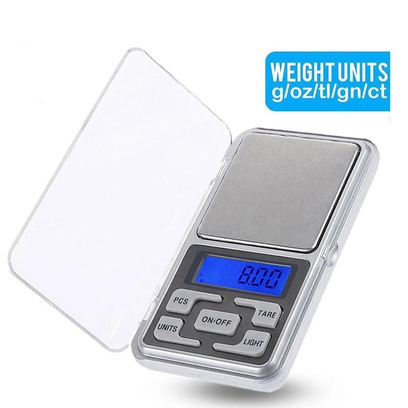 Mini Precision Pocket Bilance Bilancia elettronica digitale Bilanciamento Equilibrio Bilancia per la retroilluminazione per cucina 100/200/300 / 500G 0,01 / 0,1G