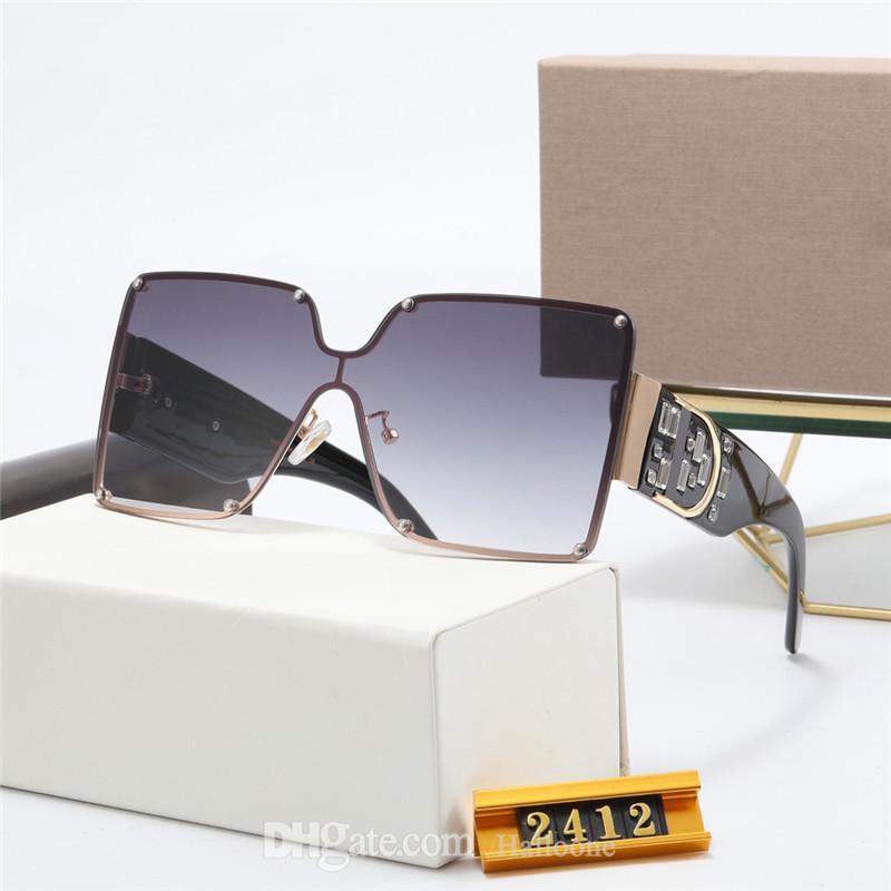 Toptan 2412 Tasarımcı Güneş Erkekler Kadınlar Gözlük Açık Shades PC Çerçeve Moda Klasik Bayan Güneş Gözlükleri Bayan Için Aynalar