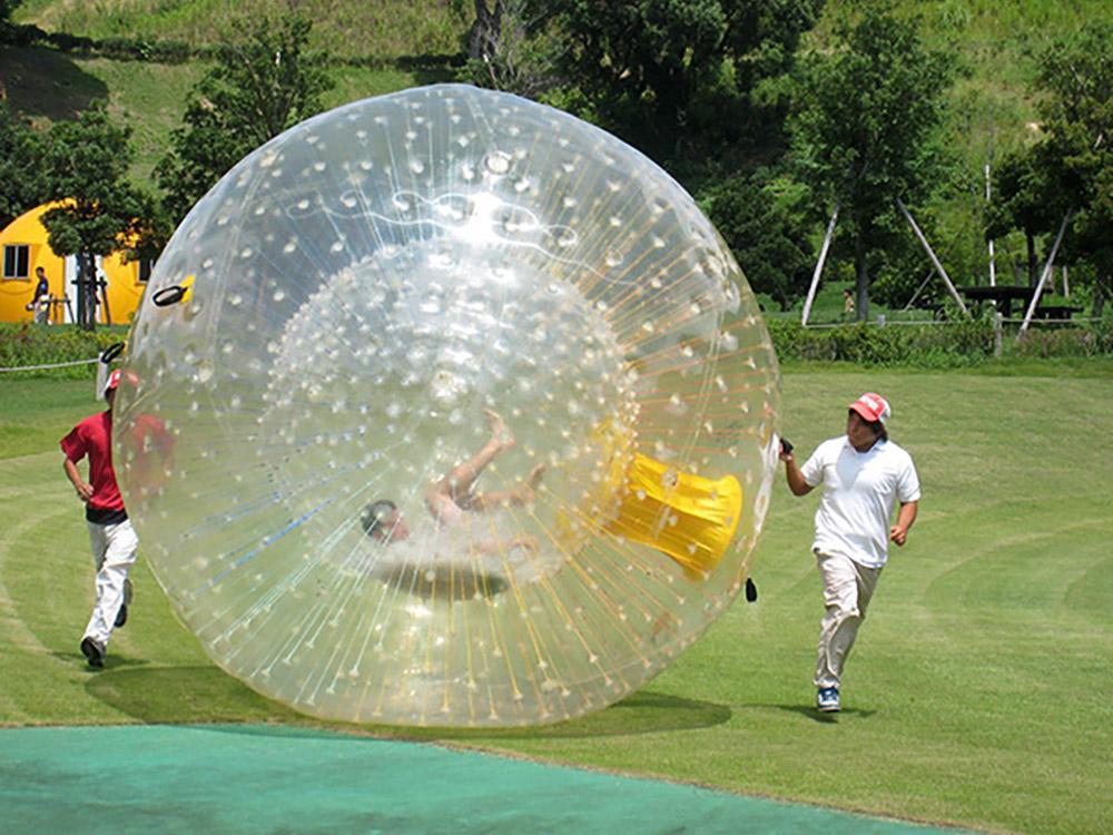 مخصصة المياه الجسم zorb 3m ضياء نفخ العشب الكرة pvc الإنسان العملاق الكرة الهامستر الكرة للأشخاص الذهاب داخل في الهواء الطلق مثيرة هيل لعبة المتداول مع مضخة الهواء