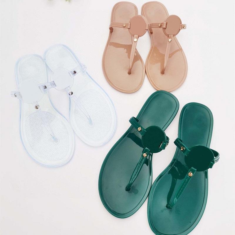 Clássicos Mulheres Slipper Moda Sandálias Slides Summer Sexy Real Couro Plataforma Flats Sapatos Senhoras Praia Chinelos Home011 025
