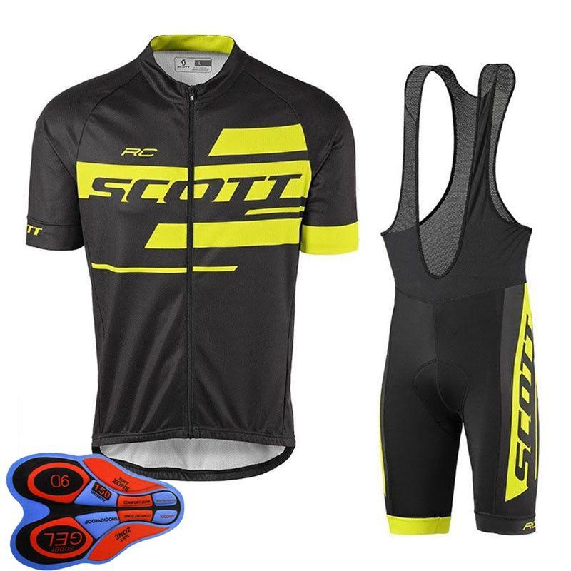 Juego de ciclismo para hombre Juego de ciclismo 2021 VERANO SCOTT EQUIPO CAMISETA CORTE CAMISETA BIB pantalones cortos trajes de ropa de carreras de secado rápido Tamaño XXS-6XL Y21041079