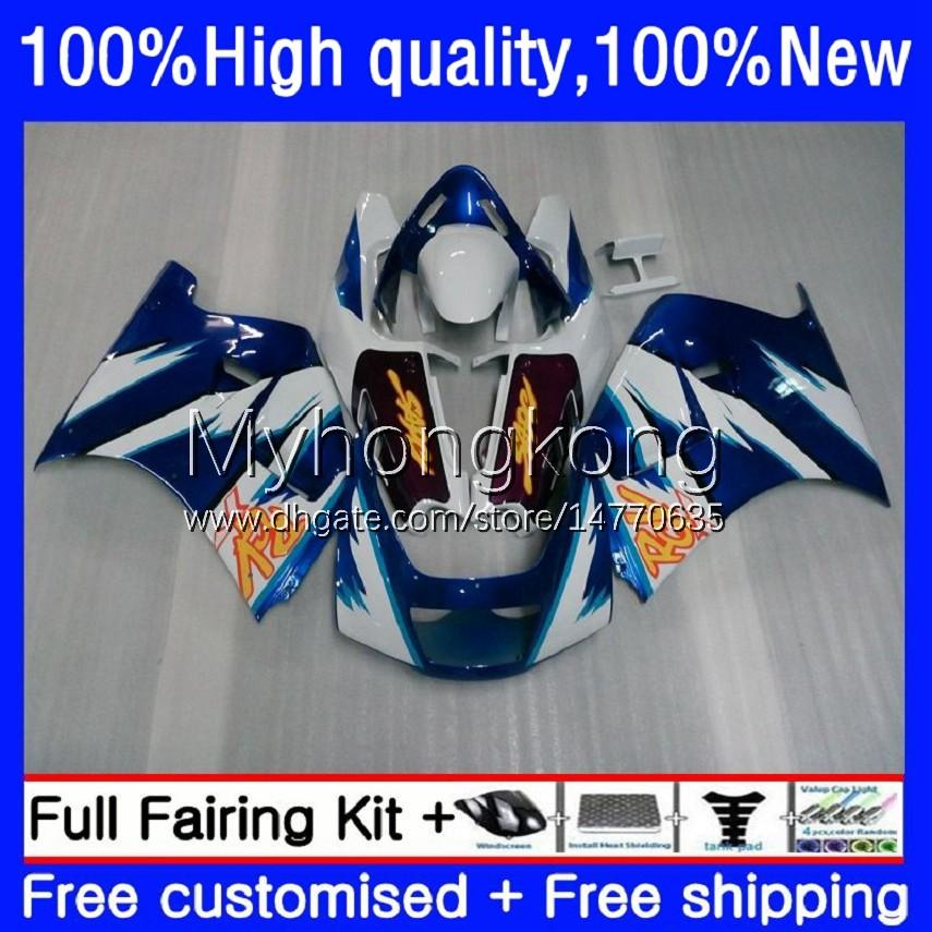 Blue white Fairings Kit For SUZUKI 250CC RGV250 SAPC VJ21 RGVT250 Body 31No.2 RGVT-250 RGV-250 VJ22 88 89 90 91 92 93 RGVT RGV 250 1988 1989 1990 1991 1992 1993 Bodywork
