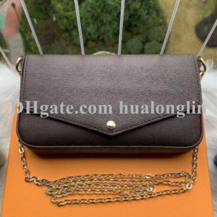 여성 메신저 가방 지갑 핸드백 어깨 원래 상자 3에서 일련 번호와 1 고품질의 날짜 코드 꽃 그리드 체커