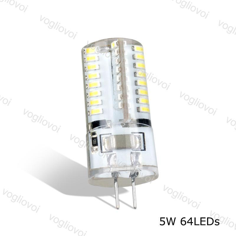 Lâmpadas LED G4 64led AC220V 6500K 3500K SMD3014 Milho 360 Corpo de Silicone para Cristal Chandelier Lâmpadas Pingente DHL