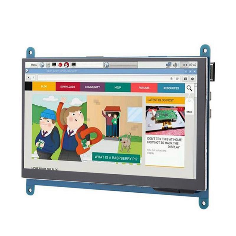 Zoll-LCD-Anzeige Vollansicht IPS-Pressebildschirm 1024x600 HD-Monitor für Raspberry Pi 3B + / 4B Monitore
