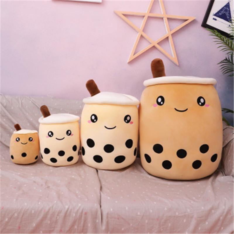 24 CM Pearl Milk Cup Pluszowa Zabawka Boba Poduszka Lalka Ragdoll Dzieci Dziewczyny Prezent Cute Boże Narodzenie Prezenty Truskawkowe Mleko Herbaty Pluszowe Zabawki DHL