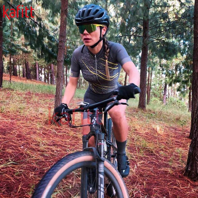 Cafete signore estate manica corta ciclismo jersey vestito moda leopardo stampa sexy cycling wear camicia sportiva all'aperto professionale