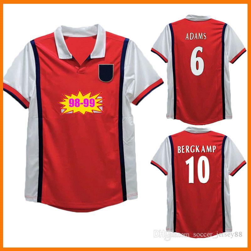 98 99 Versión Retro Soccer Jerseys 1998 1999 Henry Wright Fabregas Arsen Ljungberg V.Persie Bergkamp UHMHF Camisa de fútbol clásico de la vendimia