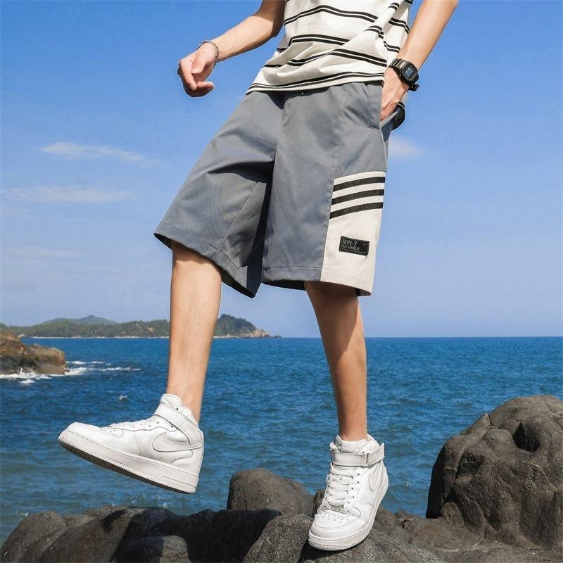 Мужские шорты летний отдых спортивные спорты тонкие каприз пляжные брюки Большие свободные брюкима