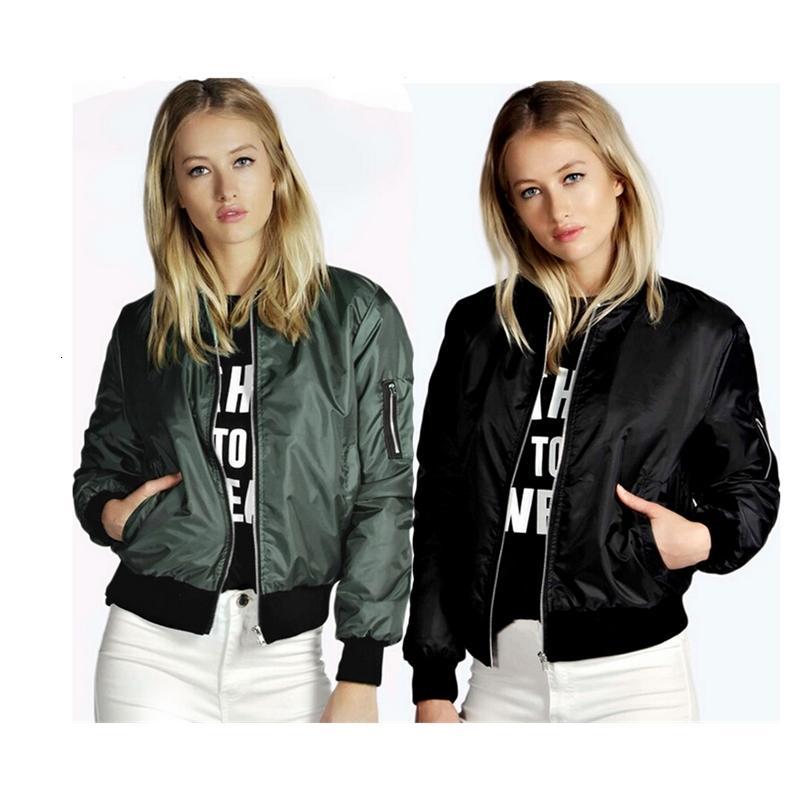 3 couleurs S-5XL Femme Zipper Blazer Vol de Ville Jacket Casual Baseball Manteau HOPP 58236788556535