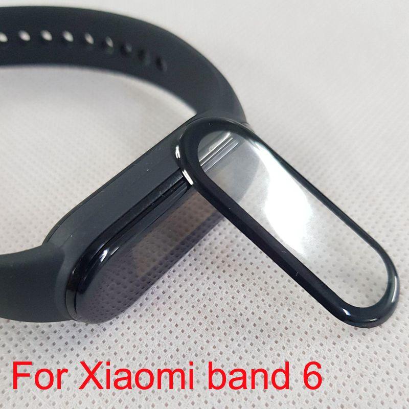 Xiaomi MI 밴드 6 5 4에 대한 3D 곡선 필름 전체 커버 애완 동물 화면 보호기