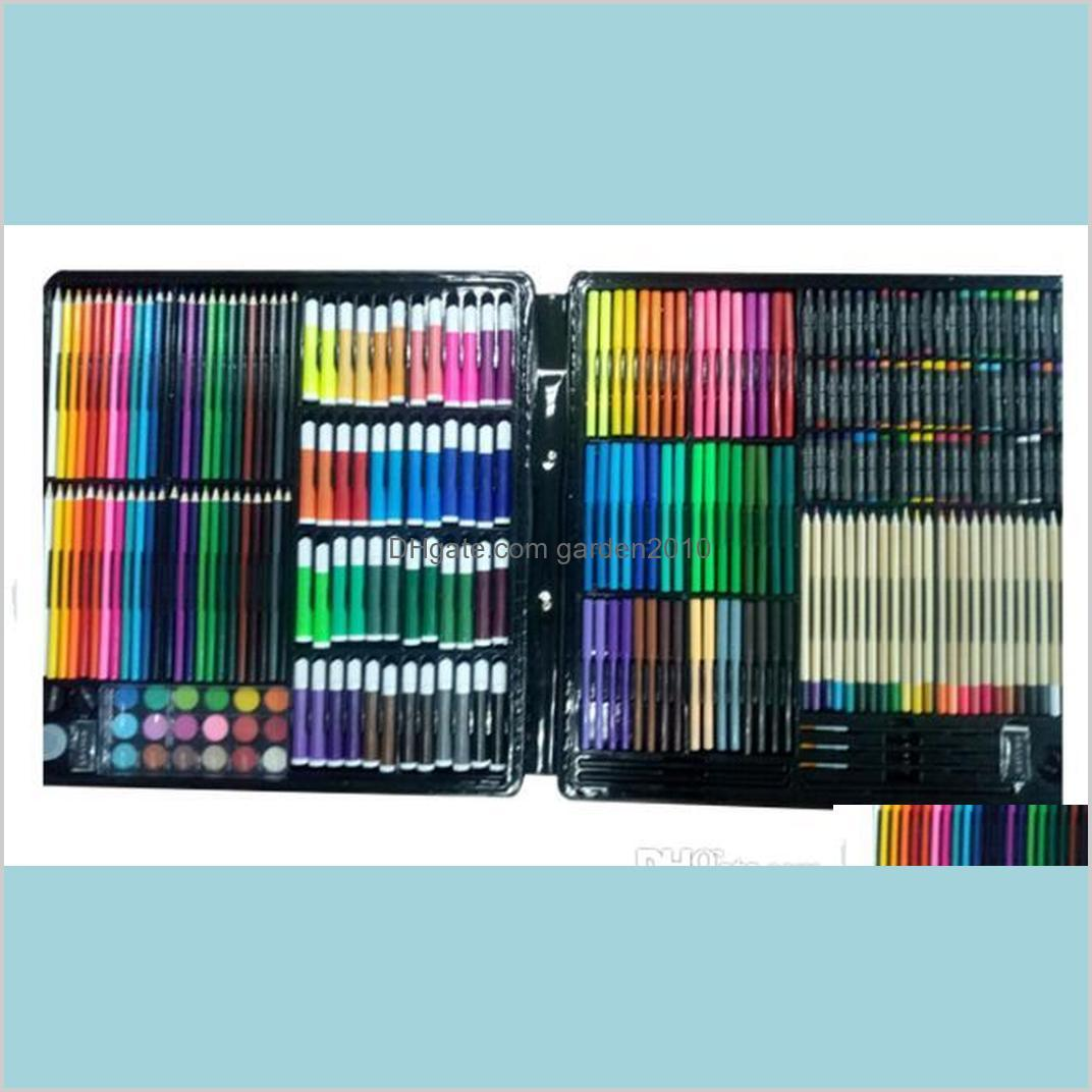 Painting Pens Writing Supplies Office & School Business Industrial 258 Set Super Child Stationery Art Brush Crayon Oily Watercolor Pen