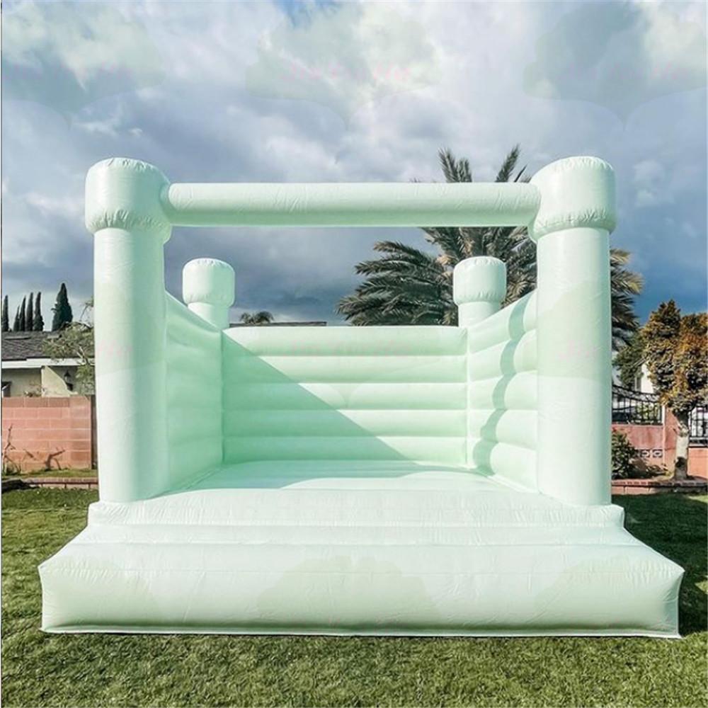 4x4x2.6m Todo o PVC Comercial ou Residencial Inflável Bouncer Bouncy Bounding Castelo Bouncy Jumper Bounce Casa com ventilador de ar para o evento do casamento do partido