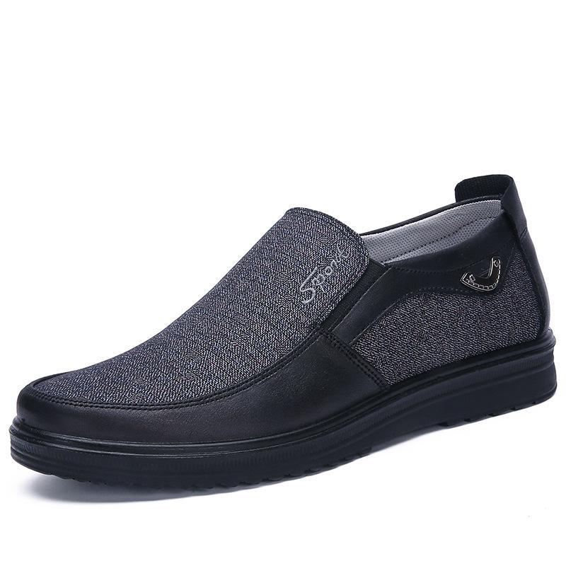 2021 Mode Designer Style de l'entreprise Chaussures Mens Hommes Black Brown Loisirs Soft Appartements Soft Homme Robe occasionnelle pour la fête 38-44 Trois