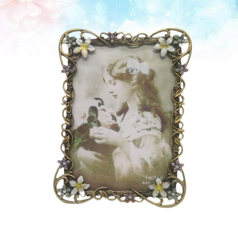 Europäische Retro-Metall-Telefon-Frame-Weinlese-Bild Home Desktop-Po-Verzierung Hochzeitstag-Dekorationsrahmen