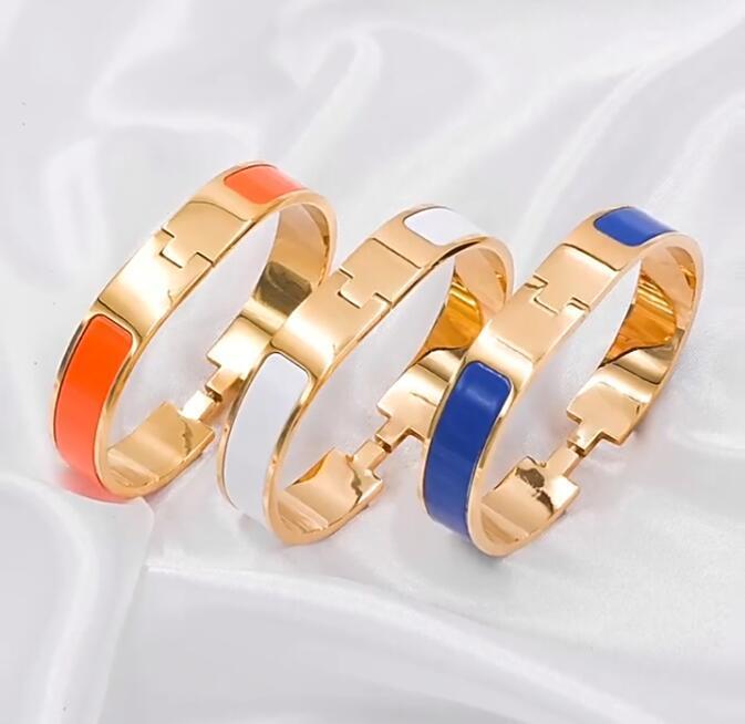 18mm Farbe emailliert übertriebenes titaniumstahl einstellbares Designer-Armband in Europa und Amerika