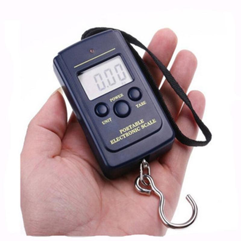 40kg/10g LED display Portable Mini Electronic Digital Scales Pocket Case For Kitchen Fishing shopping Luggage Travel Weighting Steelyard Hanging Hook