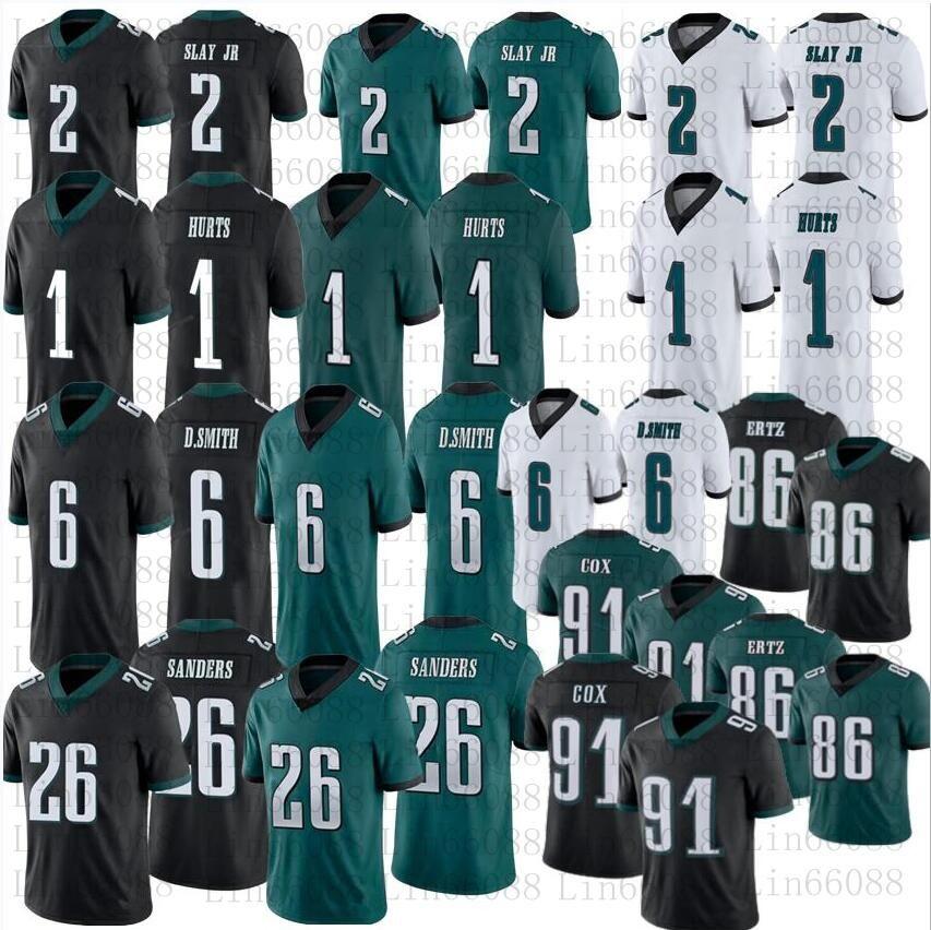 2021 homens futebol 6 Devona Smith 1 jalen dói 86 Zach Ertz Dawkins Cox Jeffery 2 Darius Slay JR Miles 26 Sander Jersey