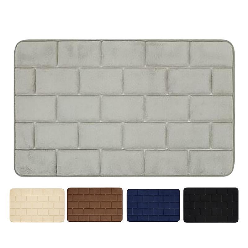 Tapetes 1 PCS Memory Foam Bath Mat Non-Slip, tapetes absorventes Tapete de banheiro lavável