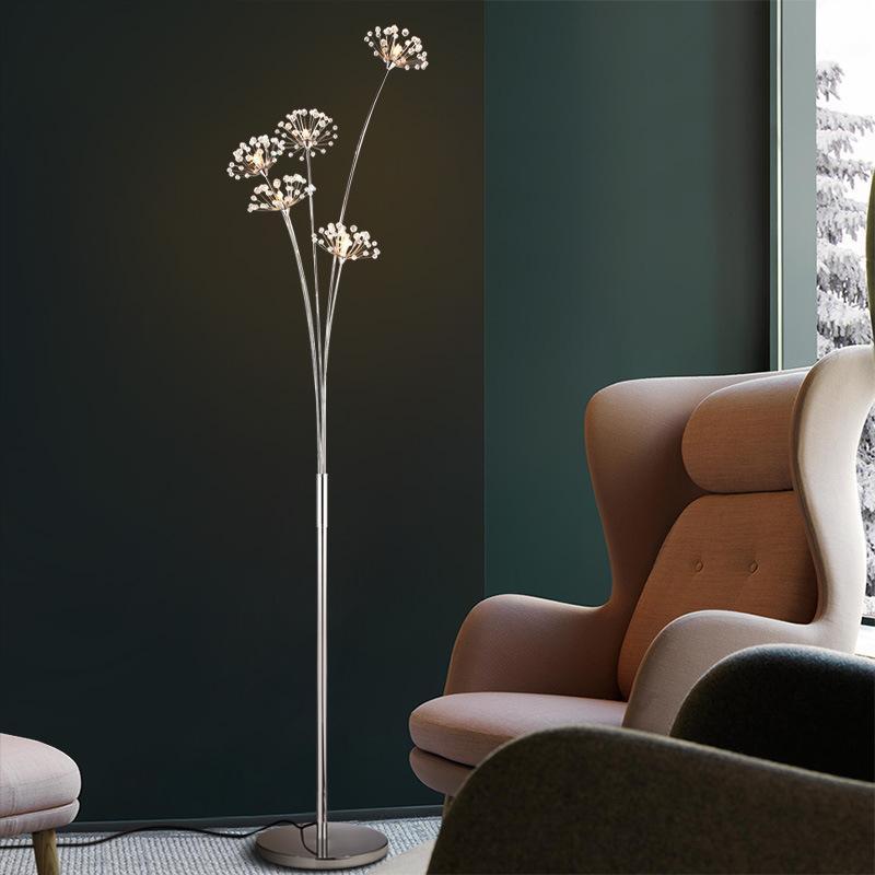 노르딕 룸 장식 조명 민들레 바닥 램프 홈 키 큰 침실 실내 조명을위한 거실 장식 램프
