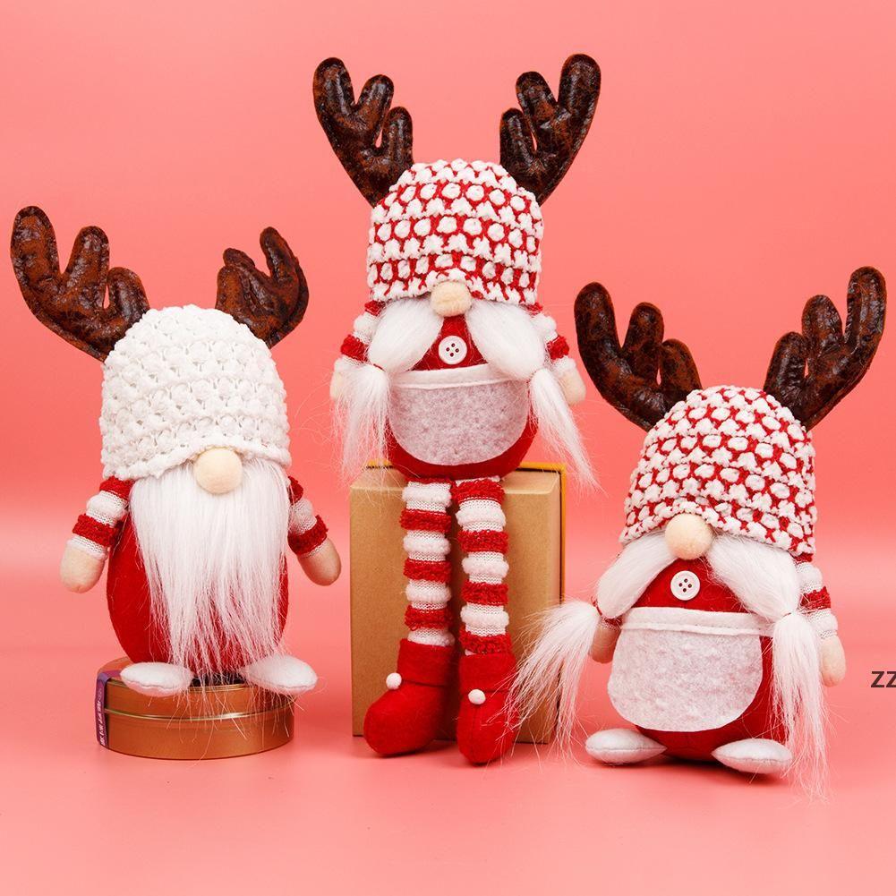 Рождественский безликий Gnome Santa Xmas Tree висит орнамент кукла украшения для домашних кулон подарки падение украшений поставляет HWB8200