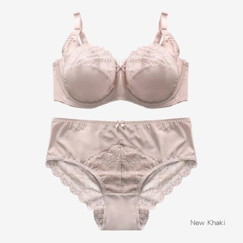 Fashion High Quality Large size women Bras set Underwear Ultra Thin Lace Transparent Breathable Steel Ring Push Up Sexy women's bra suit Briefs