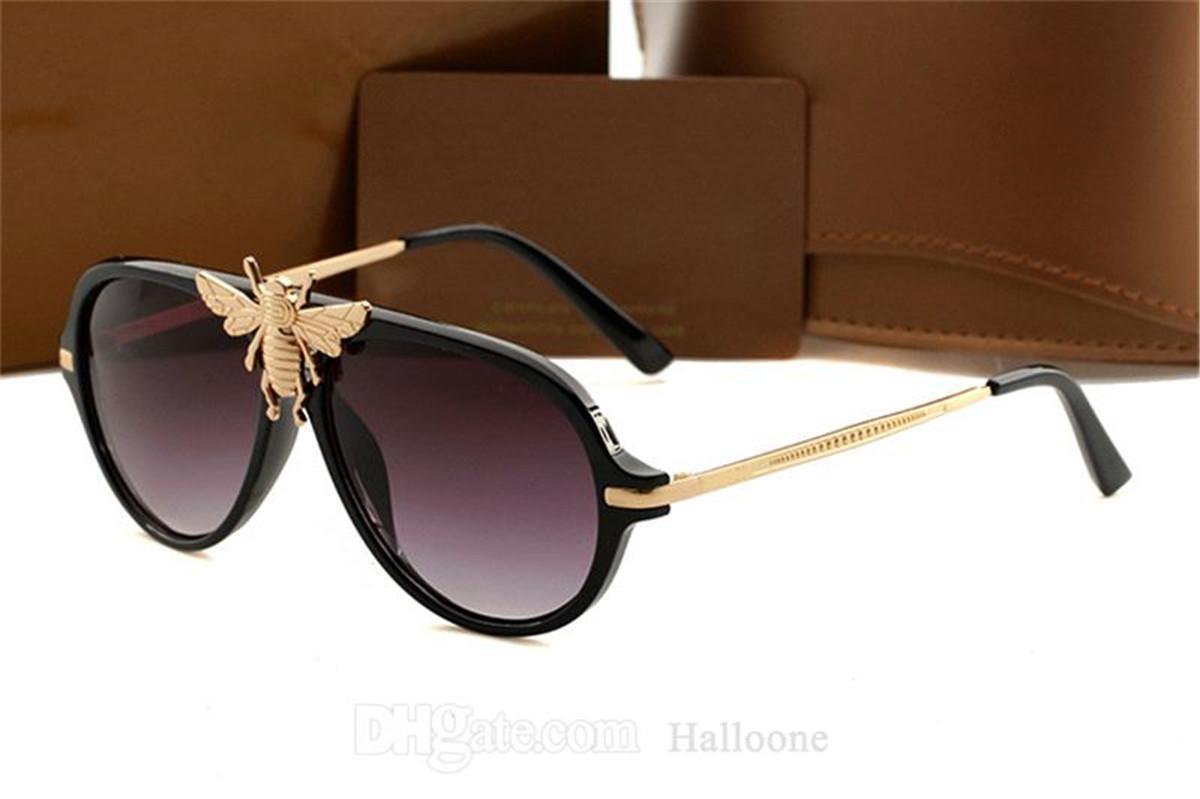 1885 Big Bienen Designer Sonnenbrille Männer Luxus Brillen Marke Outdoor Shades PC Frame Mode Classic Lady Sun Brille Spiegel Für Frauen