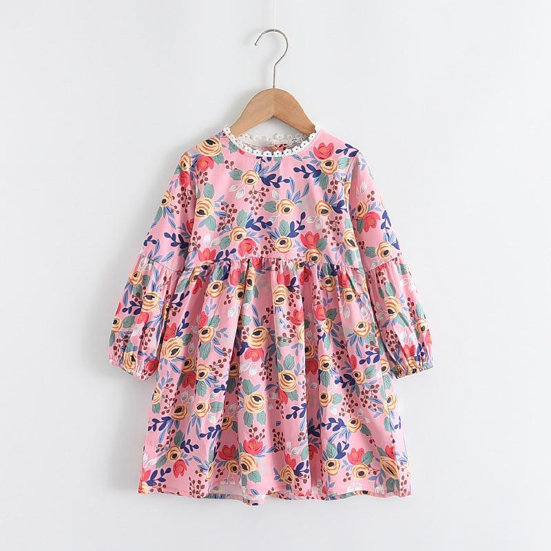 Girl's Dresses Melario Girls Fashion Autumn Spring Kids Flowers Princess Floral Children Party Costume Sweet Clothes 1-6Y