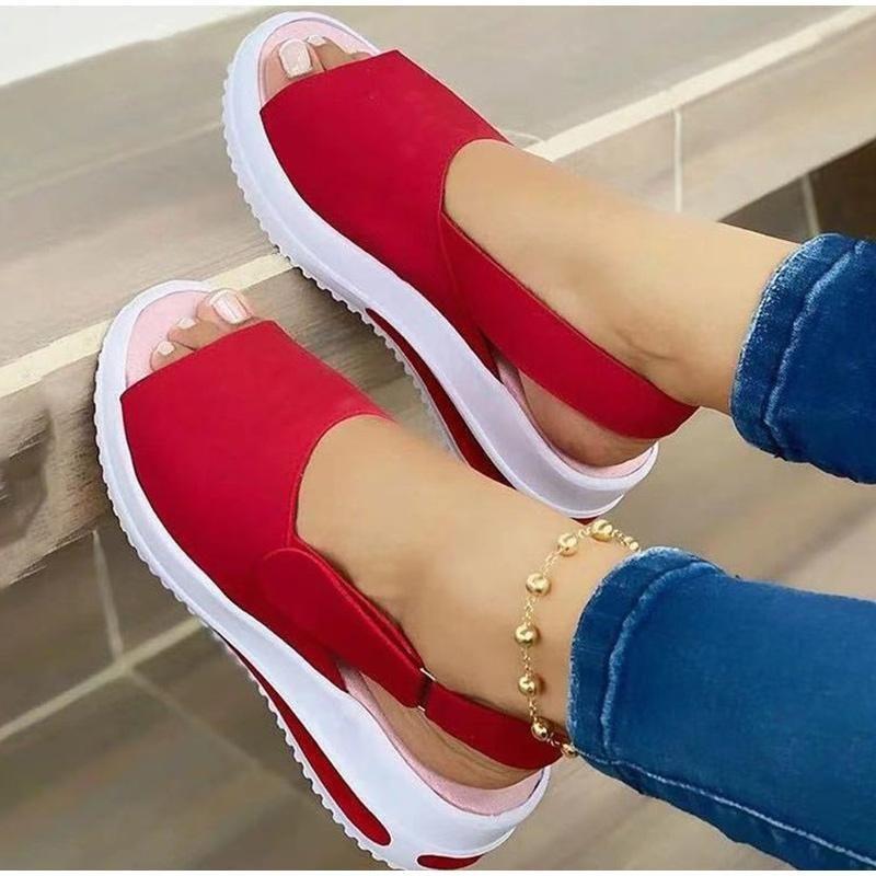 Sandales 2021 Femmes Douces Mesdames Mode Coins Status Status Sandal Casual Casual Beach Chaussures Femme Vulcaniser Plus Taille