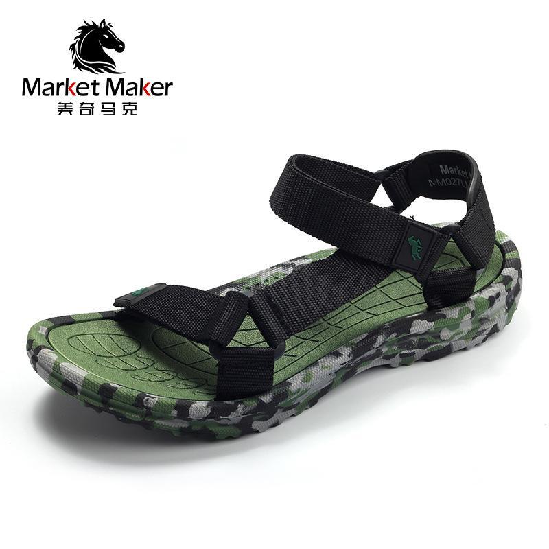 Dış Ticaret 2021 Yeni Yaz Kaymaz Sandalet Erkek Rahat Ayakkabılar Açık Roma Spor Erkek Plaj Ayakkabı Toptan