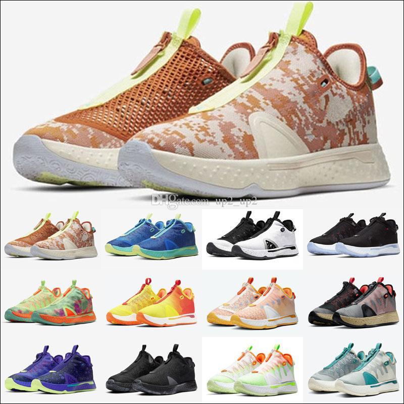 PG Paul George 4 Erkekler Açık Ayakkabı Sneakers Gatorade Digi Camo Bred Ekose Gamer Özel Narenciye Oreo GX Chaussures Tenis Eğitmenler Ayakkabı