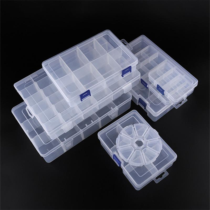 Adjustable 3-36 Grids Compartment Plastic Storage Box Jewelry Earring Bead Screw Holder Case Display Organizer Container