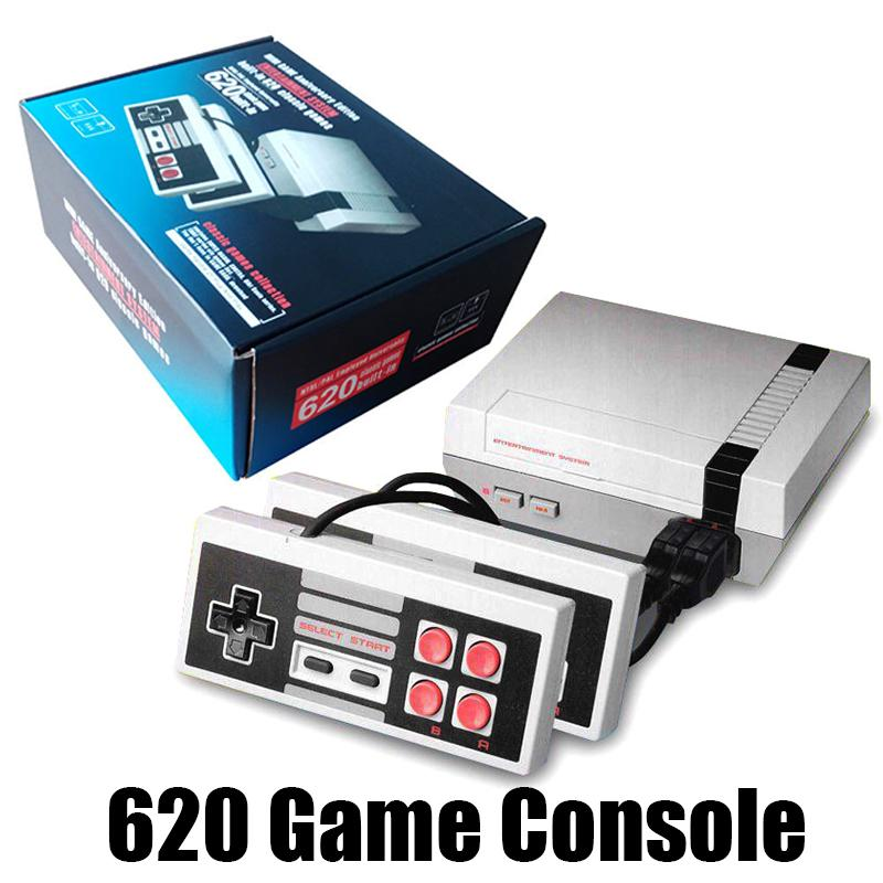 Mini TV Controllers 620 500 Game Console Video FC Handheld For NES Games Consoles US UK EU plug With Retail Box Christmas Gift