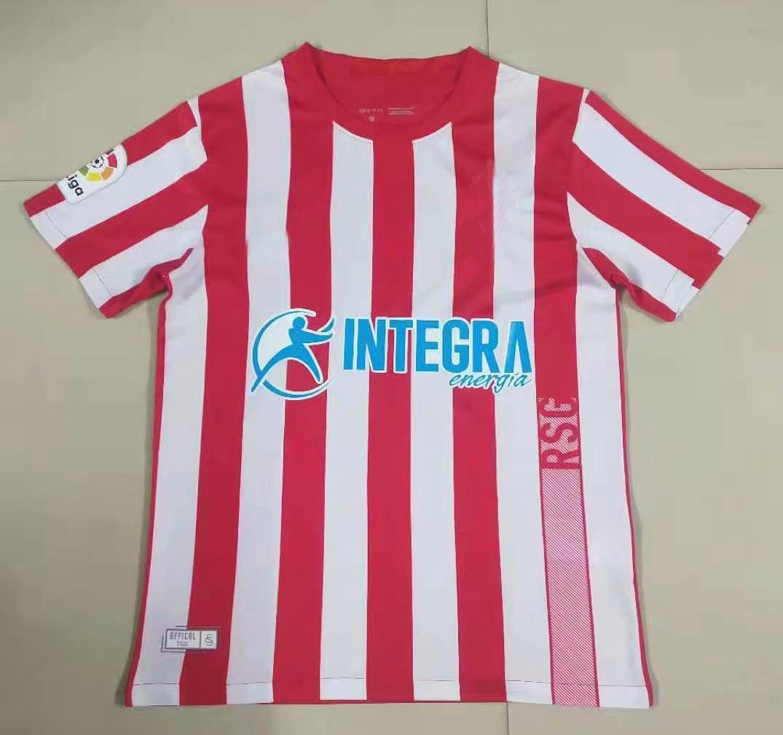 2021 2022 Sporting de Gijón Futebol Jerseys Gijon Macho Mendez Alvaro Carmona Away 21 22 Camisa de Futebol S-2XL