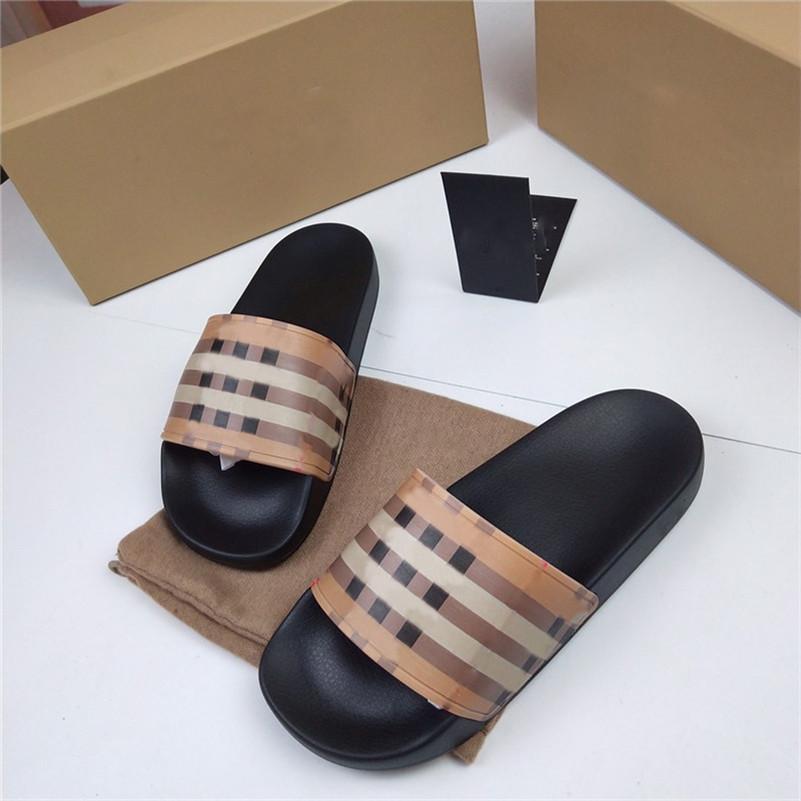 2021 Top Frauen Mann Hausschuhe Flachfolien Sandalen Flip Flop Sommerschuhe Mode Slip Slipper Designer Strand Shos Größe US5-11