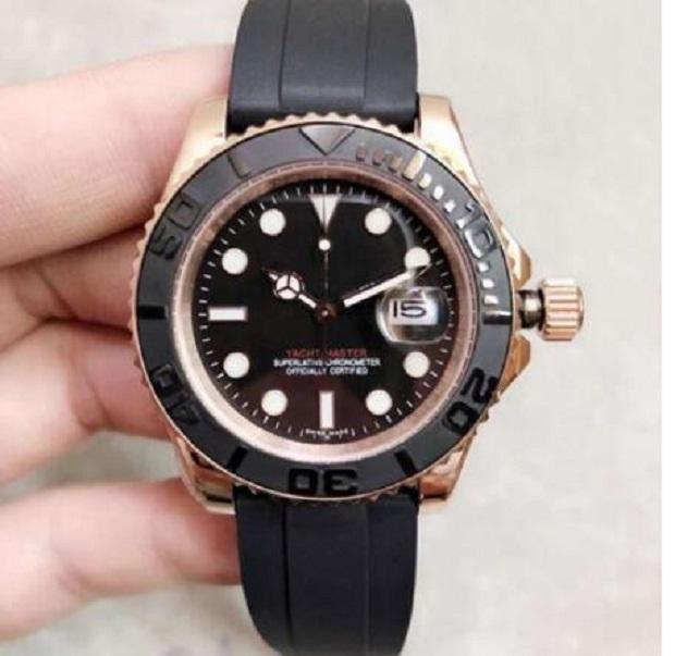Mens Watch 2813 автоматическое движение роскошные из нержавеющей стали мода механические часы мужские резиновые ремень дизайнерские наручные часы